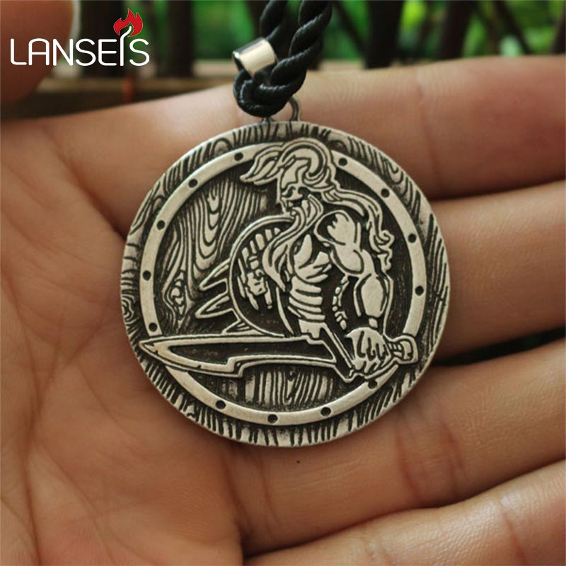 lanseis10pc viking Savage pendant Brutal men necklace norse jewelry Nordic Warrior necklace