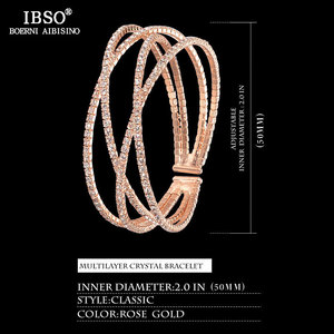 Image 4 - IBSO Women Leather Watch Set Rose Gold  Crystal Bangle Jewelry Watches Xmas Gift Box for Women Jewelry Watch Set