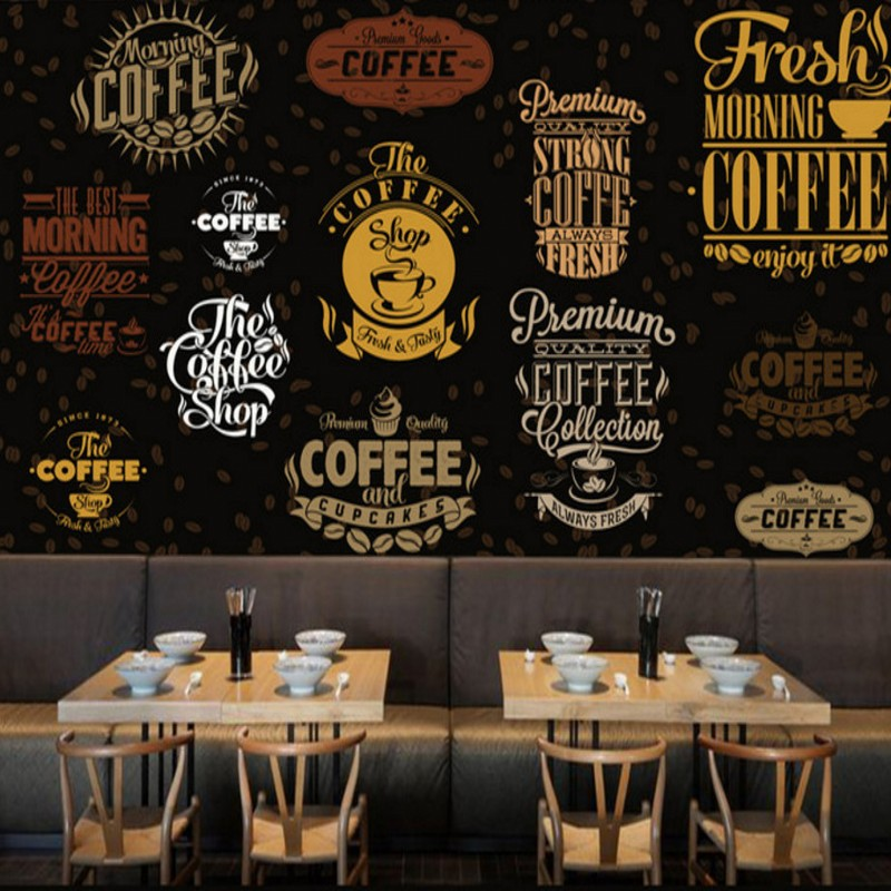 Custom 3d wallpaper  Custom hand painted Dining coffee culture background wall mural restaurant cafe bar wallpaper