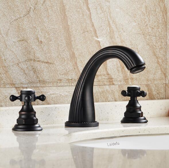 Oil Rubbed Black Faucet Antique brass bathroom basin faucet widespread hot and cold water deck mounted sink mixer taps spring children sports suit tracksuit for girls kids clothes sports suit boy children clothing set casual kids tracksuit set 596 page 3