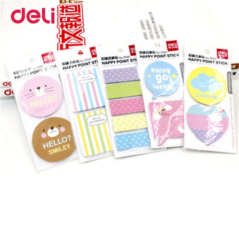 Deli Cute Kawaii Candy Memo Pad Paper Stickers Cartoon Cat Poste Notebook For Work Plan Korean Stationery Multi Style