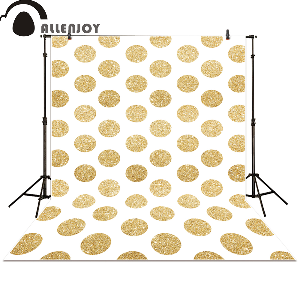 Allenjoy photo backdrops party Gold Dots Circles Golden Glitter glamour Sparkle Birthday baby shower photocall golden bronze sparkle