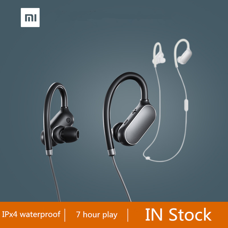 все цены на 100% Original Xiaomi Mi Sports Bluetooth Headset Xiaomi Wireless Bluetooth 4.1 Music Sport Earbud IPX4 Waterproof and sweatproof онлайн