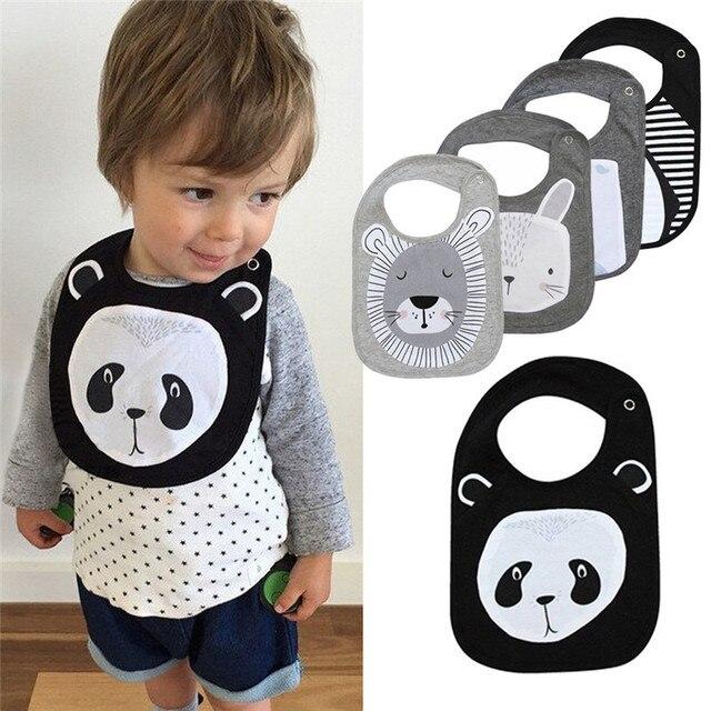 New Baby Bibs bandana Saliva Towel Scarf Lunch Boys Girls Cartoon Infant Bibs Burp Cloths For Children Feeding Care