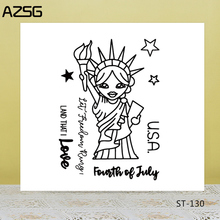 AZSG Lovely Statue of Liberty Clear Stamps/Seals For DIY Scrapbooking/Card Making/Album Decorative Silicone Stamp Crafts