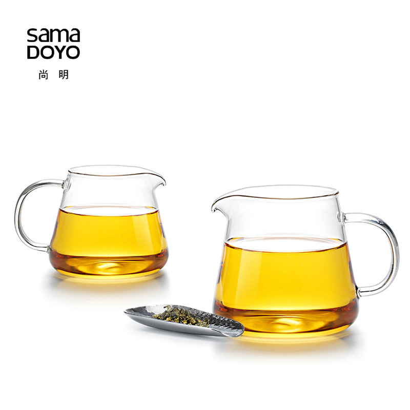 Samadoyo Thickened Fair Mug High Borosilicate Glass Handmade tea mug Kung Fu tea Ceremony cup Gong