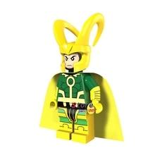 50pcs super heroes marvel dc comics model Young Avengers Thor Ragnarok loki building blocks bricks friends hobby toys for boys