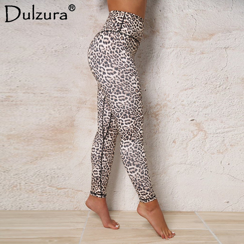 Dulzura leopard print push up high waist   leggings   women sexy stretch fitness legins 2018 summer autumn workout leggins pant