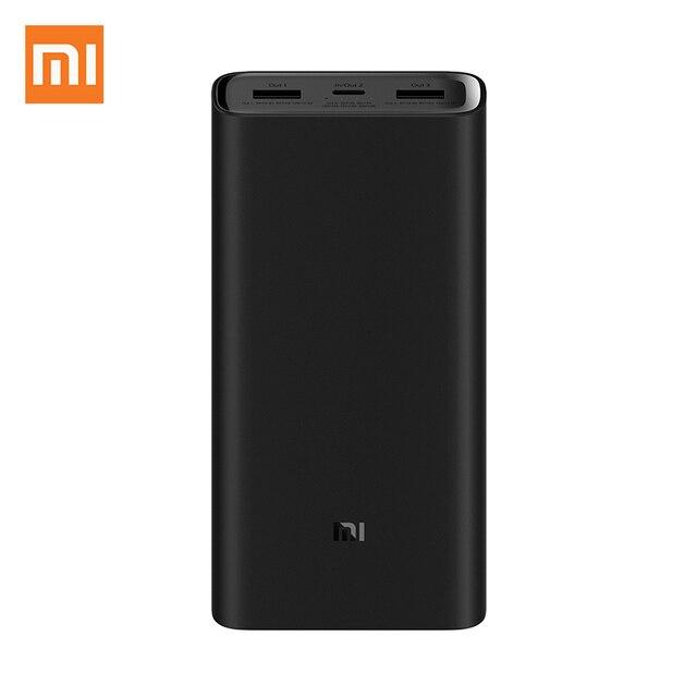 Xiaomi banco de potência 3 20000mah pro plm07zm 3 usb tipo c 45w carregamento rápido portátil mi powerbank 20000 bateria externa poverbank