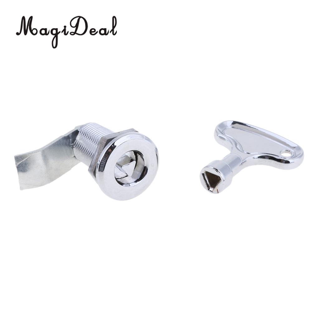 MagiDeal Boat Marine Stainless Steel Triangulation Pull Ring Door Lock Latch