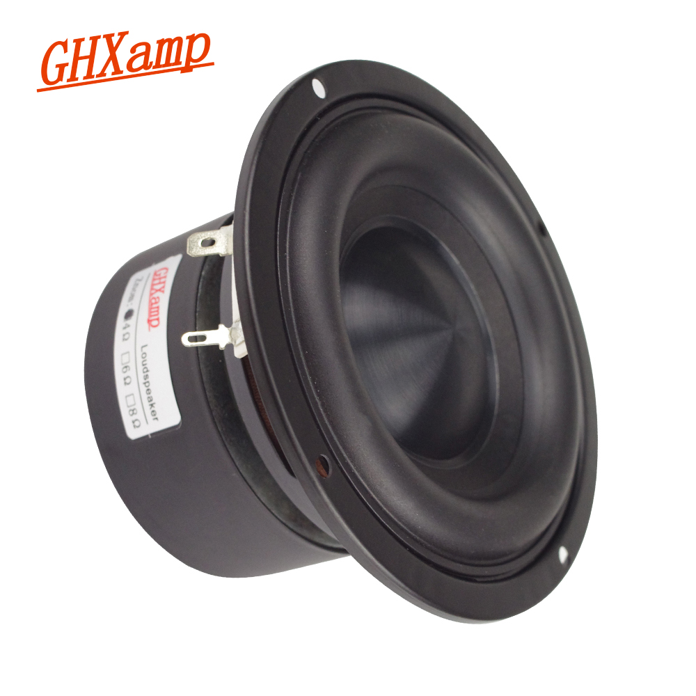 4 Inch Subwoofer Hifi Speaker Black Diamond Alumina Ceramic Cap Woofer Military Magnetic Bass Soundbox 20W-50W 4 Ohm 1PC