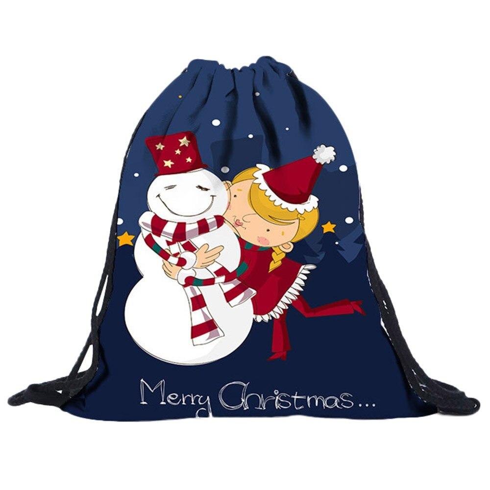 Sleeper #5001 2018 NEW Fashion Non-Woven Bags Drawstring Women Bag 3D Digital Print Bouquet Pocket Special Design Free Shipping