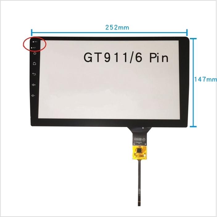 252*147 DVD navigation 10.2 inch capacitive touch screen 10.1 inch 6 line capacitor with buttons, free delivery