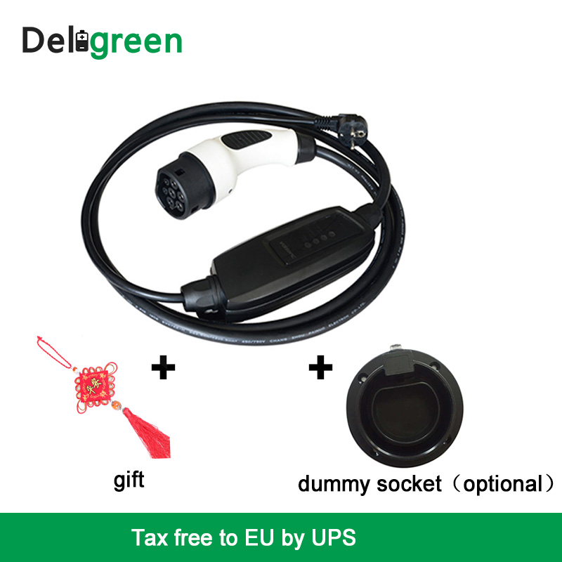 Duosida Type2 EVSE 16A Rapid Home EV Car charger Portable Level2 DC French Charging connctors with