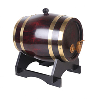3L Oak Barrels Brewing Decorative Barrel Keg Bucket Brewage Hotel Restaurant Exhibition Display Wooden Wine Barre Bar