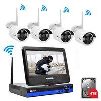 Wistino 1080P CCTV System Kit Wireless 4CH Security IP Camera Wifi Outdoor NVR P2P Monitor Kits