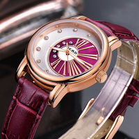 READ Watchwrist 2019 Rhinestones Scratch resistance white leather strap for women watches wrist fashion relogios femininos 6083