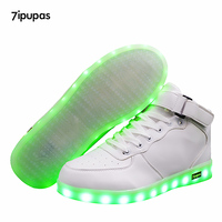 7ipupas High Quality Low Price Luminous Sneakers Kids Boys Girls USB Charger Led Light Shoes Unisex