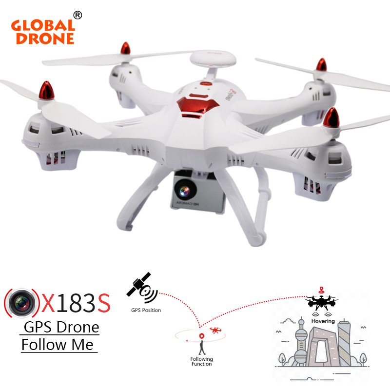 Global Drone RC Helicopter X183 Dual GPS Drone Follow me Drone 5.8G FPV RC Quadcopter with 1080P HD Camera Drone with Camera genuine original xiaomi mi drone 4k version hd camera app rc fpv quadcopter camera drone spare parts main body accessories accs