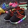 Moda iluminado luminosa de carregamento das crianças sapatilhas crianças sapatilhas menino/meninas colorido luzes led crianças shoes tamanho 22-30