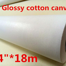 24in Solvent Glossy Cotton digital printing canvas \u0028yellow back eco solvent Fabric\u0029