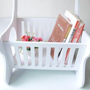 Image 3 - Multifuncional prateleira de armazenamento de madeira mesa de café mesa de chá mesa lazer revista rack de armazenamento oco esculpido
