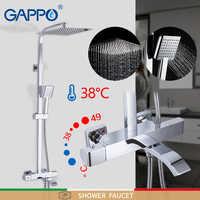 Grifo de ducha grifo termostático grifo de baño mezclador termostático montado en la pared juego de ducha de lluvia mezclador Sistema de ducha de grifo