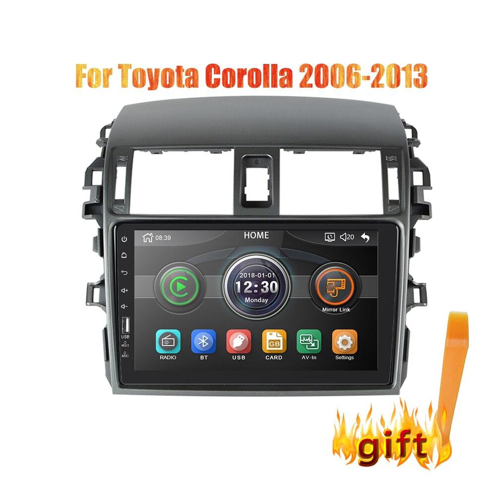 2din 9 pouces autoradio Mirrorlink Android Bluetooth voiture multimédia MP5 lecteur pour Toyota Corolla 2008 2009 2010 2011 2012 2013