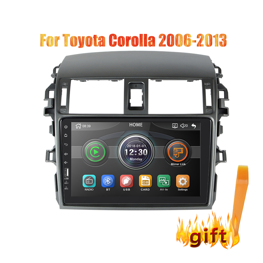 2din 9 inch Car Radio Mirrorlink Android Bluetooth Car <font><b>Multimedia</b></font> MP5 Player For <font><b>Toyota</b></font> <font><b>Corolla</b></font> 2008 2009 2010 <font><b>2011</b></font> 2012 2013 image