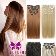 24″ Hair Extensions 60cm 7pcs/set Natural Hairpieces Hair Piece Straight Synthetic Clip In Hair Extentions Cheveux Extension B40