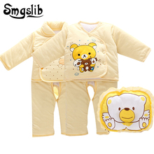 Smgslib 0 3 6 months Baby girl winter clothes Set Thermal Underwear cotton baby outfits baby boy long sleeve Newborn tracksuit(China)