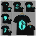Japan anime Dragon Ball Z T Shirt Super Saiyan fluorescent t shirt men Son Goku Tees Tops Men Clothes Plus size