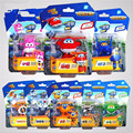 2016 8pcs Super Wings toys Mini Planes Model Transformation robot Deformation Airplane Robot Boys Christmas Birthday Gift