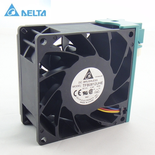 Delta TFB0812UHE  8CM 80MM 8*8*3.8CM 80*80*38MM 8038 12V 2.34A  For R525 G2 fan  SR2625UR  server inverter cooling fan delta ffb0824vhe 8038 dc 80 80 38mm dc 24v 0 25a 4200rpm 57 21cfm cooling fan