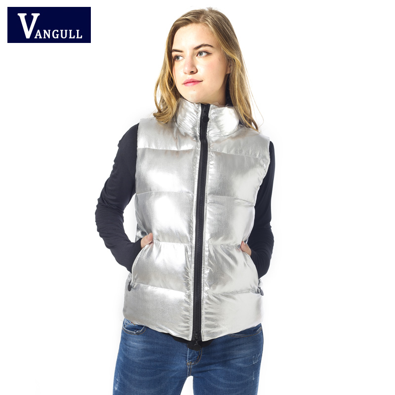 The 2017 winter hot explosion models of female cotton color bright silver white metallic all-match vest vest locomotive the explosion of the classic all match solid colored body hip high elastic denim pants feet female winter bag mail