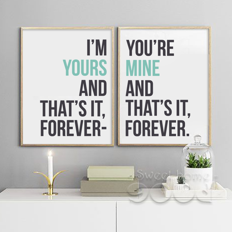 Buy love quote canvas art print painting for Home decor 2 love