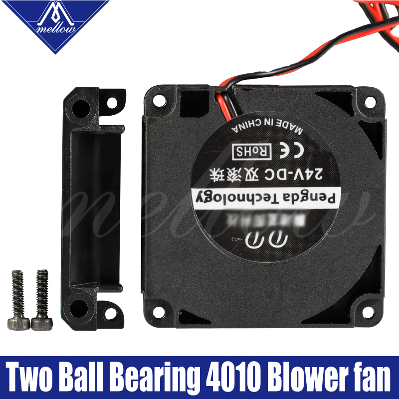 Mellow 3D Printer Fan 12V/24V 40*10mm 4010 Dual Bearing Blow Radial Extruder DC Cooling Turbo Fan Turbo Fan For CR10 Ender 3