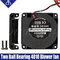 Мягкий 3D-принтеры вентилятор 12V/24V 40*10 мм 4010 двойной подшипник удар радиальный экструдер DC вентилятор охлаждения Turbo вентилятор для CR10 Эндер 3