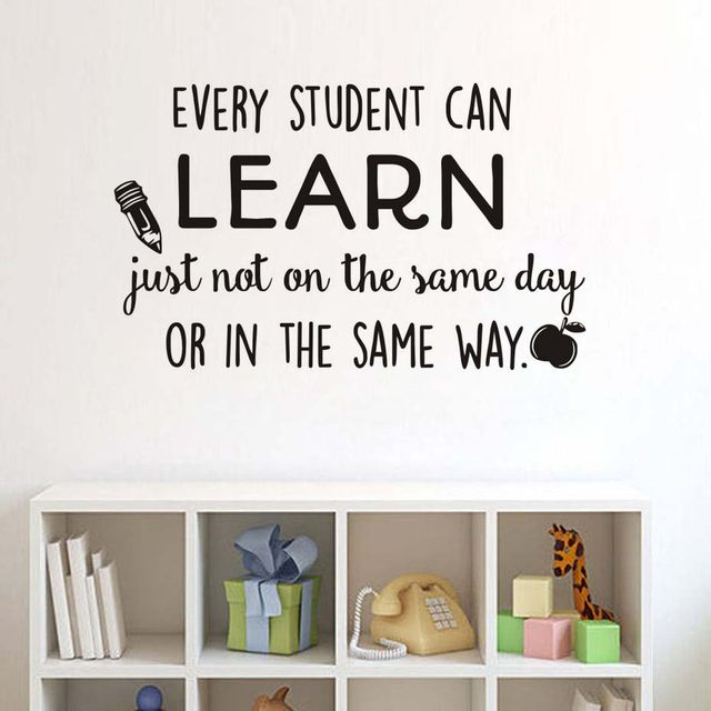 Step2Put the transfer film on the wall sticker. Step3Using the card scratch the surface of the pattern  sc 1 st  Aliexpress & Online Shop Every Student Can Learn Wall Sticker Encourage Motto ...