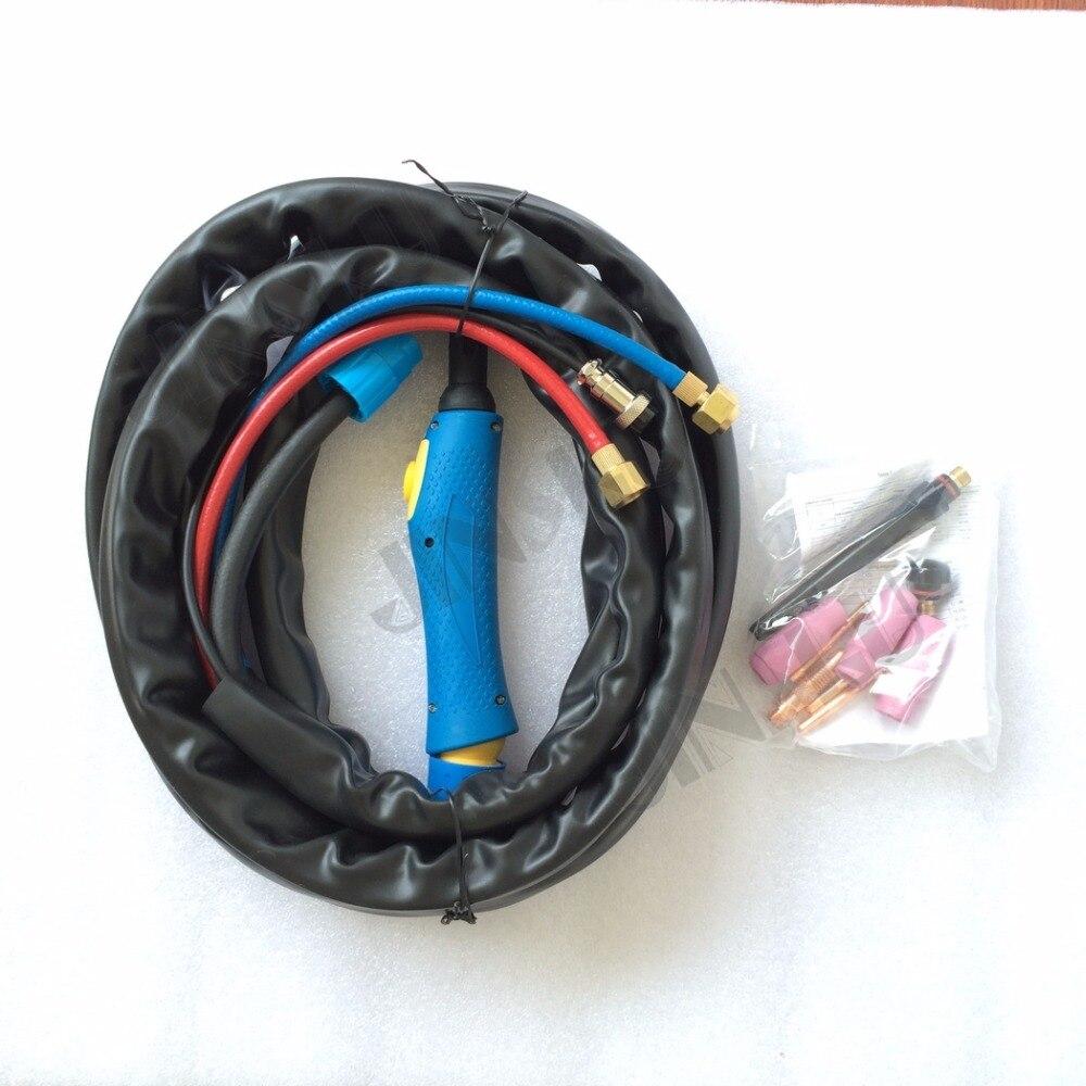 Schweißen & Löten Supplies Kreativ Wassergekühlte Argon Lichtbogenschweißgerät Tig Taschenlampe 8 Mt Blauen Griff Wp-18 Wp18 Wasser Und Elektro Ganzen