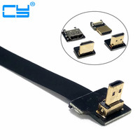 Angled FPV Micro HDMI to HDMI FPC Flat Cable for Gopro HERO 4 HERO 3 SJCAM SJ5000 SJ4000 Xiaomi yi 5cm 10cm 20cm 30cm 50cm 80cm