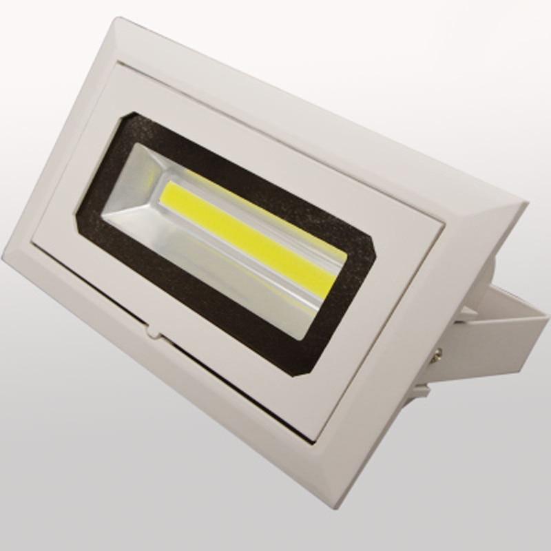 Us 289 8 Off 4pcs Lot Led Downlight 50w Cob Spot Rectangular Recessed Ceiling Down Light Rotatable Adjule Indoor Lighting In