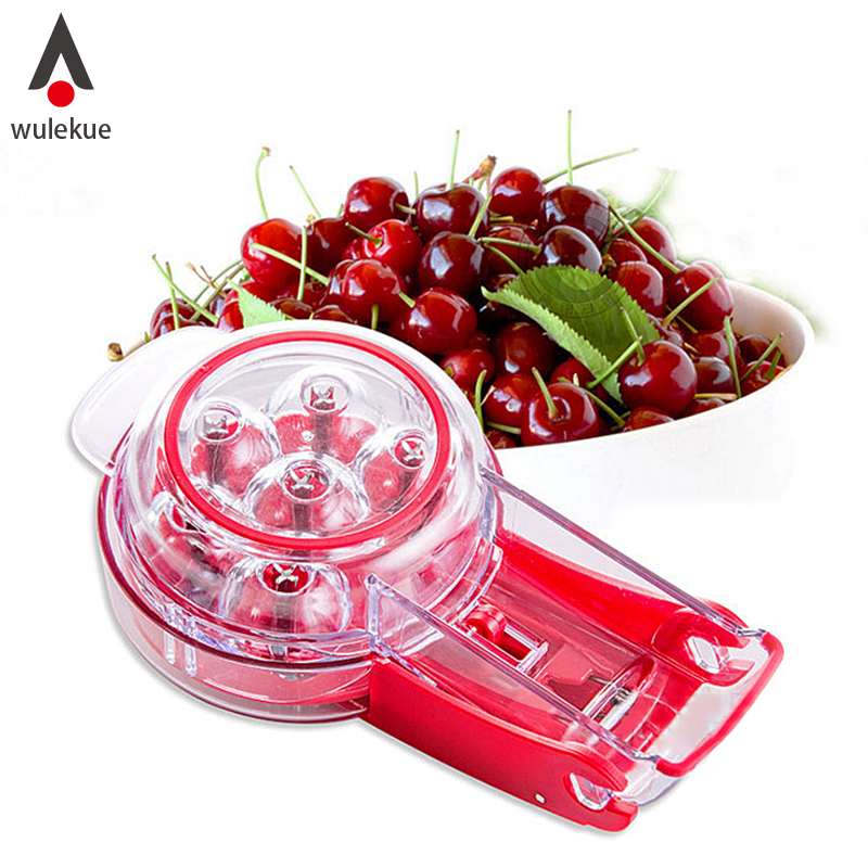 Wulekue ABS AAS Cherry Pitter Remover Machine Red Dates Olives Nuclear Corer Fruit Vegetable Tools