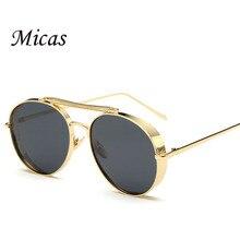2016 Fashion Round polarized Sunglasses women Brand Designer Sunglasses versae for men Summer Style goggles Oculos De Sol UV400