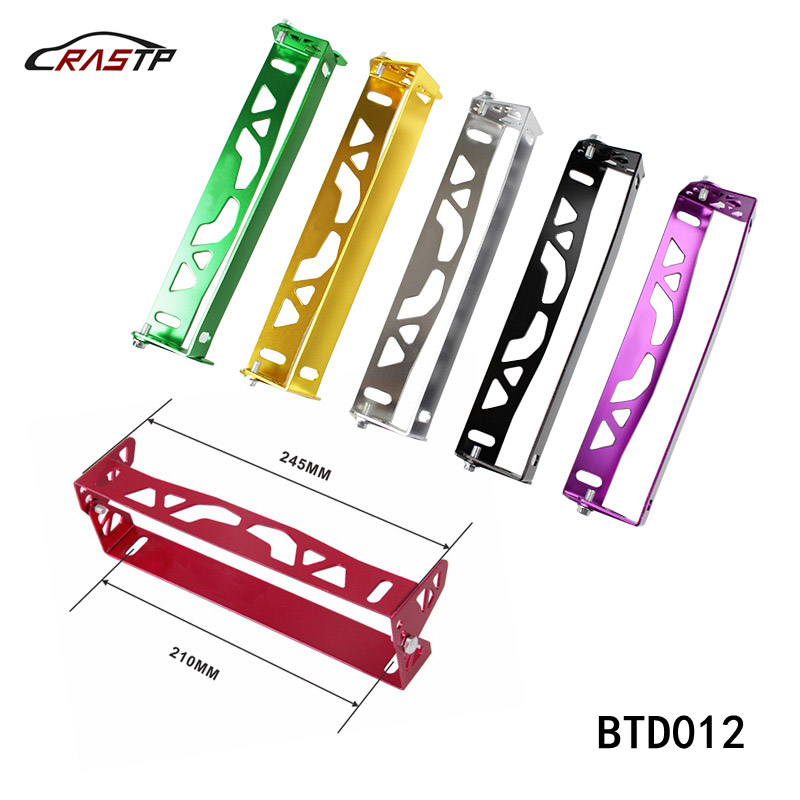 RASTP - Universal Aluminum Car Styling License Plate Frame Power Racing License Plate Frames Frame Tag Holder RS-BTD012