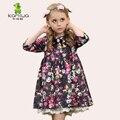 KAMIWA 2017 цветок девочки платья весна Осень Принцесса Партии Малышей Детская Одежда Детская Одежда середине рукава для школьников