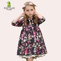 KAMIWA 2017 flower girl dresses spring Autumn  Princess Party Toddler Children Clothing Kids Clothes mid sleeves for school kids