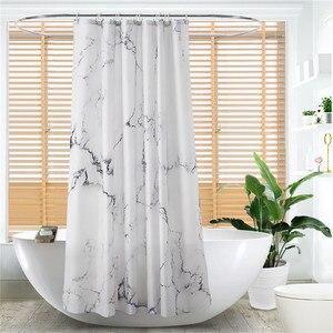 Image 5 - Cortina de ducha de fácil limpieza de 180x180cm, cortinas de baño, cortina de ducha a prueba de agua, sin olor químico reforzado