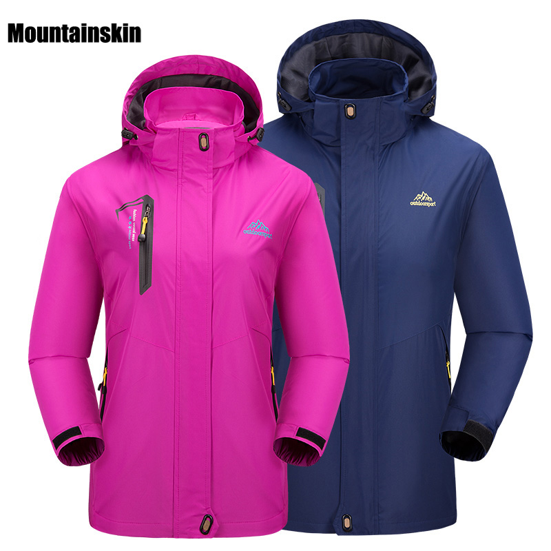 5XL 2018 Men Women Spring Softshell Breathable Jacket Outdoor Sport Mountainskin Coat Hiking Climbing Male Female Jackets VA070