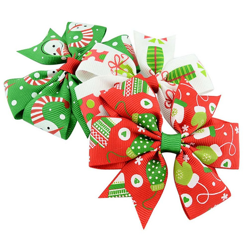 Christmas Hair Clips.Us 0 37 31 Off Christmas Hair Bow Clips Hair Clips For Women Hair Accessories New Year Dinner Party Home Christmas Decorations Holiday Supplies In